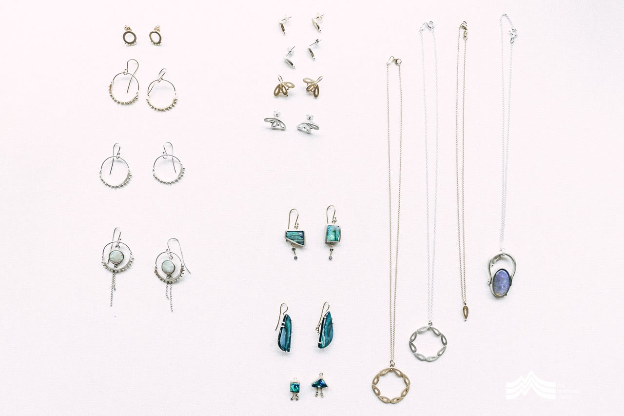 Tonya Gilbett jewellery examples on a white background