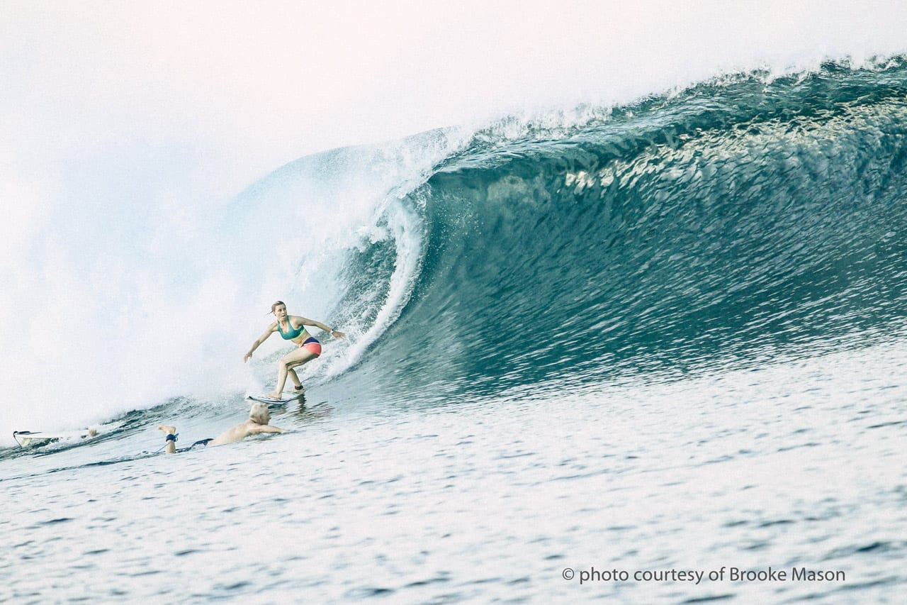Brooke Mason Surfing in Indonesia
