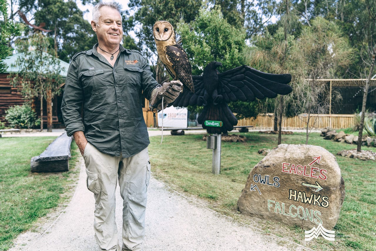 Craig Webb from Raptor Refuge and owl