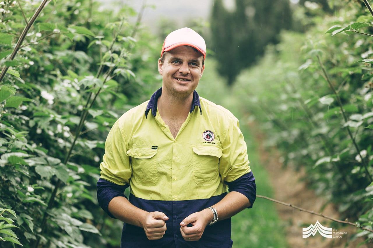 Richard Clark from Westerway Raspberry farm