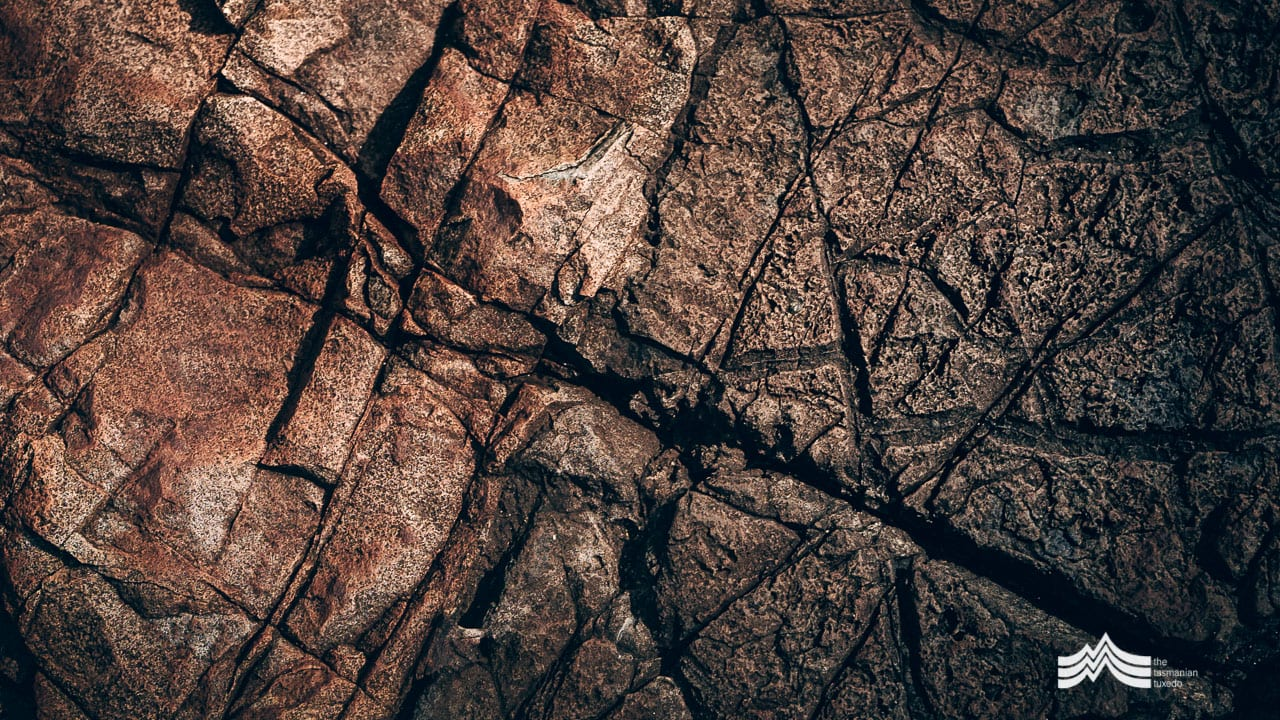 Rock patterns remarkable Cave Tasmania