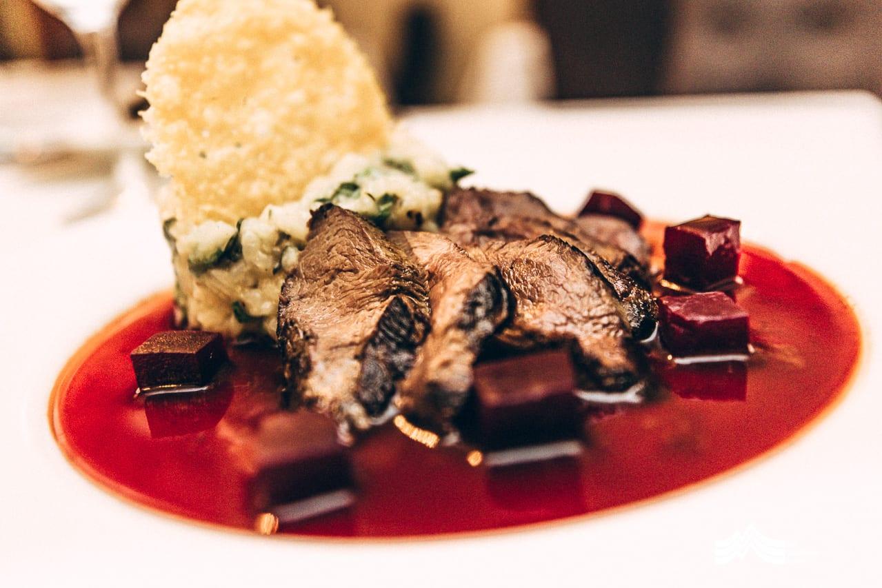 Main course meal at Prospect House Tasmania