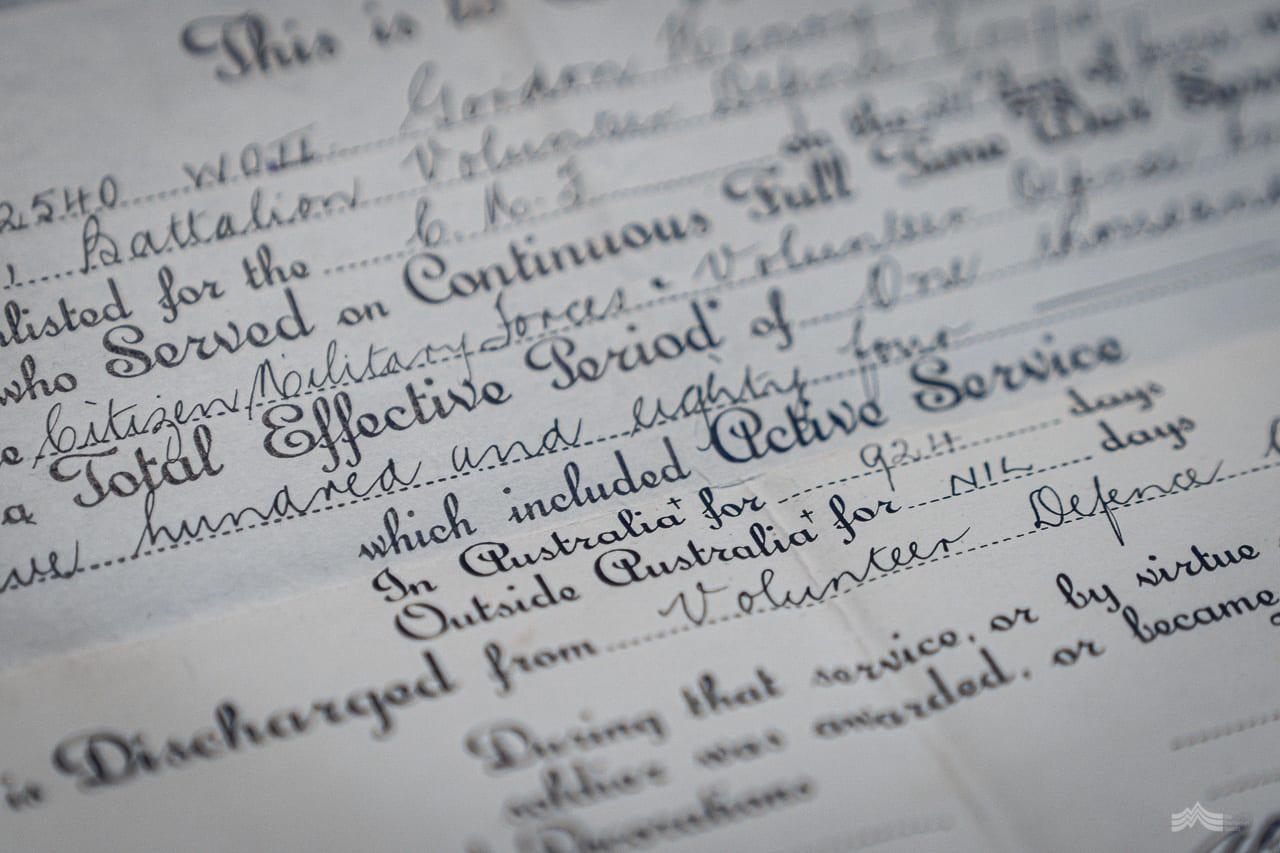 Old handwritten war documents